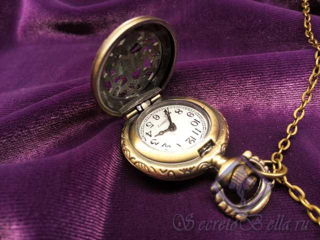 Кулон Старинные часы